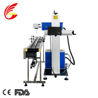 movable worktable automatic belt conveyor optical fiber raycus laser marking machine